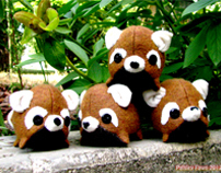 Rusty Red Panda Smudge: Plush Art Toy