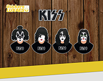 KISS Stickers LuXaEs