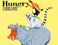 "ZARIGANI$ mini album""Hungry"" artwork"