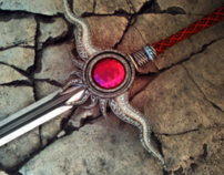 Sword red crystal