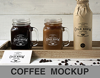 Cold Brew Coffee PSD Mockup