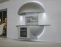 Concept kitchen shell-shaped