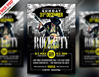 Free PSD : Rock Music Party Flyer PSD