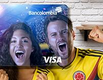 Tarjeta VISA BANCOLOMBIA