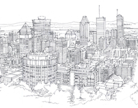 Line Drawing of Montreal