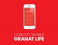 Concept mobile app - Granat Life