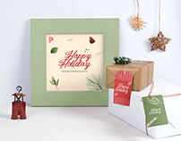 Free Holiday Greeting Frame Mockup