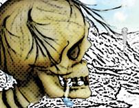 Ilustración tipo Collage - El Parámo.