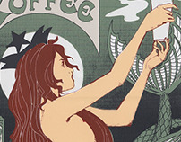 Starbucks Screen Print