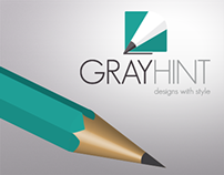 GRAYHINT - pencil and logo design, packaging, mock-up