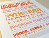 Summer Sherbet Wedding Invitations