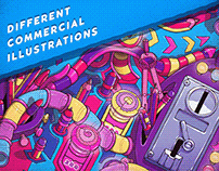 Different commercial illustrations