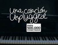 Una canción unplugged para 500.000 conectados