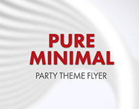 Pure Minimal Theme Party Flyer