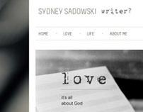 Sydney Sadowski - writer?
