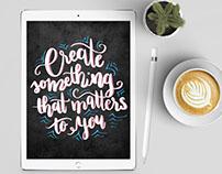 Lettering on iPad