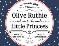 Birth announcement card design