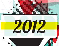 Xmas - New year' card welcoming 2012