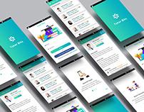 """Tutor Bits"" Find Tutor android app design concept"