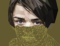Arya Stark - Poly Art