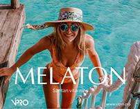 MELATON - сайт для бренда витаминов для загара