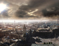 Matte Painting - Glasgow City Destruction