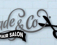 Wade & Co Hair Salon Logo Presentaion