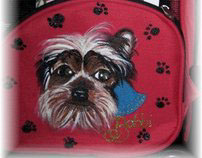 Hand Painted Pet Carrier