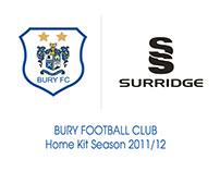 Bury FC - Playing Kit Design