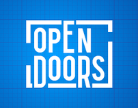 'Open Doors' exhibition identity