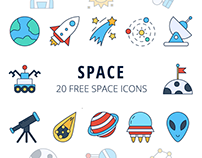 Space Vector Free Icon Set