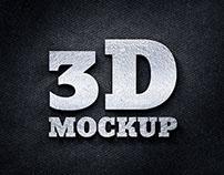 3D Silver Logo Mockup