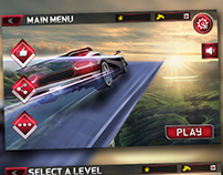 Impossible Sky car driving game HUD