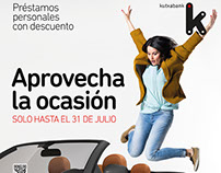 Kutxa bank, personal loan campaign