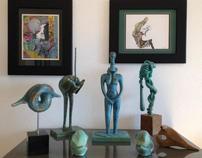 Cold cast Bronze sculptures by Vahik Kazarian