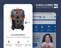 Eureka Forbes - Website Design