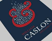 Caslon Typographic Poster