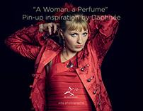 """A Woman, a Perfume"", Pin-up inspiration by Daphnée"