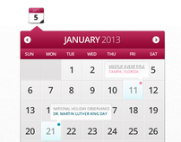Calendar Widget - Web Element
