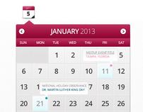 Calendar Widget - Web Element