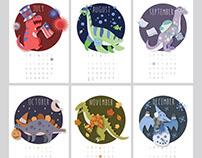 2015 Dinosaur Calendar