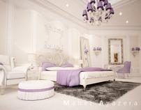 Bedroom . new classic scene