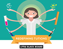 Little Black Board Flyer design