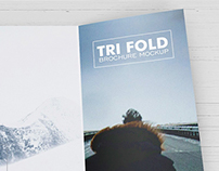 Free PSD Mockups - Trifold Brochure Download