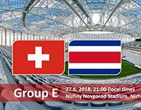 World Cup 2018 Switzerland vs Costa Rica
