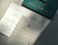 Wedding invintation cards with calligraphy