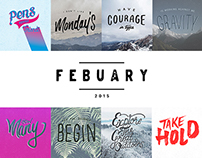 Daily Lettering | FEBRUARY