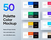 50 Palette Color Branding Logo Mockup - PSD