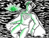 Kryptonite print - Christopher Reeve as Superman