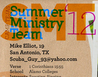 Prayer Card Summer 2012 for Camp Tejas
